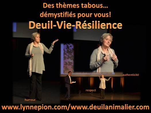 Lynne Pion conférences deuil-vie-résilience deuil animalier