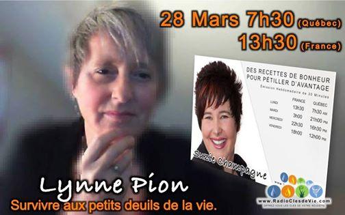 Lynne Pion en entrevue par Suzie Champagne mars 2016