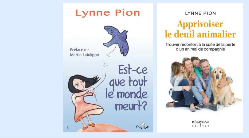 Livres de Lynne Pion référence en matière de deuil et de résilience.png