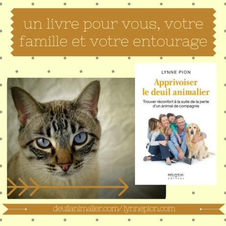 Apprivoiser le Deuil animalier livre promo Lynne Pion