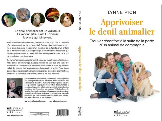 Apprivoiser le deuil animalier 1ière et 4ième couverture par Lynne Pion
